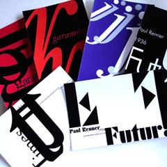Postales tipográficas